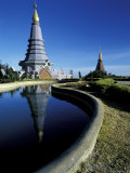 Reflecting Pool at Buddhist Temple  Thailand