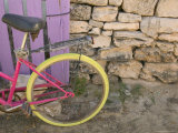 Colorful Bicycle on Salt Cay Island  Turks and Caicos  Caribbean