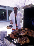 Cooking in a Jerk Hut  Jamaica  Caribbean