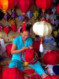 Woman Making Lanterns  Saigon  Vietnam