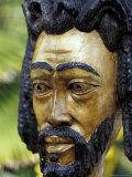 Rastafarian Wood Sculpture  Jamaica  Caribbean