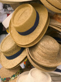 Straw Hats at Port Lucaya Marketplace  Grand Bahama Island  Caribbean