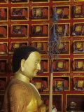 Ancient Prayer Books Wrapped in Silk  Tengboche Monastery  Nepal