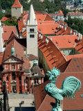 Rooster on Saint Vitus's Cathedral  Prague Castle  Czech Republic