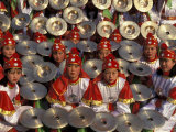 Cymbals Performance at Chinese New Year Celebration  Beijing  China
