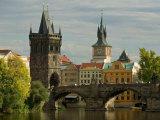 Charles Bridge and Old Town Bridge Tower  Prague  Czech Republic