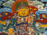 Wall Mural at Tashilumpo  Tibet