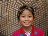 Young Girl Wearing a Straw Hat  Yangtze River  Less Three Gorges  China