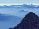 Landscape of Mt Huangshan (Yellow Mountain)  China