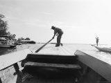 Boatman on Tonle Sap Lake  Cambodia