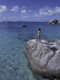 Woman on Shore  British Virgin Islands  Caribbean