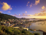 Sunset View of Marigot from Ft Louis  St Martin  Caribbean