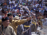Archery Competition at Naadam Festival  Ulaan Baatar  Mongolia