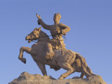 Statue of Damdiny Sukhbaatar  Ulaan Baatar  Mongolia