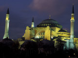 Aya Sofya (Sancta Sophia) at night  Istanbul  Turkey