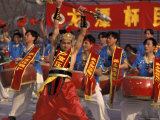 Drum Performance During Chinese New Year  Beijing  China