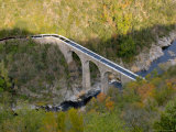 Aqueduct over Doux River  Ardeche Region  France