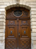 Ornately Carved Wooden Doors  Avignon  Provence  France