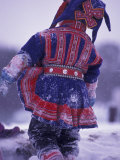 Lapp Child in Traditional Dress  Lappland  Finland