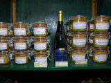 Foie Gras and Wine in Shop  Ile St Louis  Paris  France