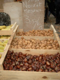 Nuts at Outdoor Market  Arles  Provence  France
