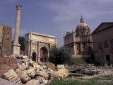 Arch of Septimius Severus  Rome  Italy