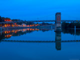 Bridge Over the Saone River at Dusk  Trevoux  France