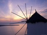 Windmill at Sunrise  Mykonos  Greece