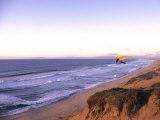 Hang Gliding off Beach in Monterey  California  USA