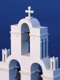 Coastal Bell Towers  Santorini  Greece