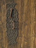 Handle on Historic Lom Stave Church  Norway
