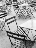 Chairs in Jardin du Luxembourg  Paris  France