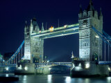 Evening View of The Tower Bridge  London  England