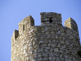 Circular Tower of 12th Century Castle  Obidos  Portugal