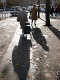 Shadows of Elderly Pedestrians  Paris  France