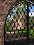 Cesis Castle Through Iron Gate  Latvia