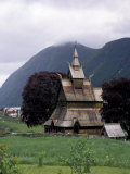 Historic Stavkirche (Wooden Church)  Viksoyrim  Norway