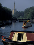Barges in Canal Lock  Stratford-on-Avon  England