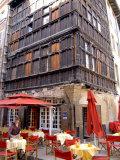 Cafe in Macon  Burgundy  France