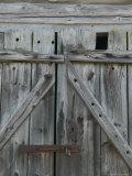 Boathouse Door at Norheimsund  Hardanger Fjord  Norway