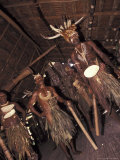 Ceremonial Dancers at Spirit House  Sepik  Papua New Guinea