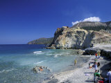 Hot Water Sulfurous Springs on the Beach  Sicily  Italy