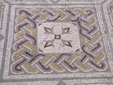 Mosaic Tile Floor in Roman Ruins  Conimbriga  Portugal