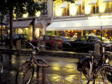 Evening Street Scene with Bicycles  Paris  France