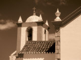 Tile Roof and Traditional Whitewashed Church  Cacela Velha  Portugal