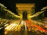 Avenue des Champs-Elysees  Arch of Triumph  Paris  France