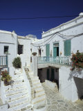 Stairs  Houses and Decorations of Chora  Cyclades Islands  Greece