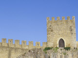 Towers and Crenellated Walls of 12th Century Castle  Obidos  Portugal
