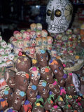 Day of the Dead  Candy Skulls  Abastos Market  Oaxaca  Mexico