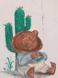 Mexican Cafe Mural  Presidio Historic District  Tucson  Arizona  USA